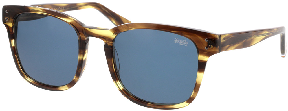 Picture of glasses model Superdry SDS Montego 109 bruin gestreift 53-21 in angle 330