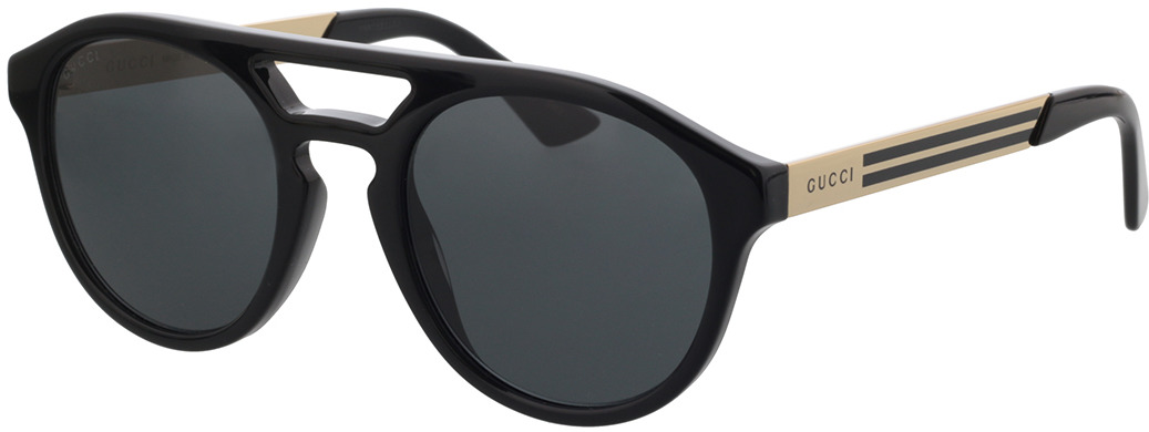 Picture of glasses model Gucci GG0689S-001 53-23 in angle 330