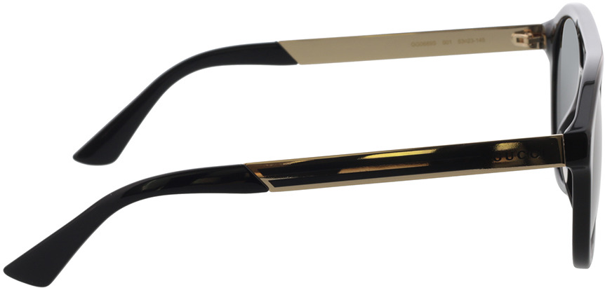 Picture of glasses model Gucci GG0689S-001 53-23 in angle 90