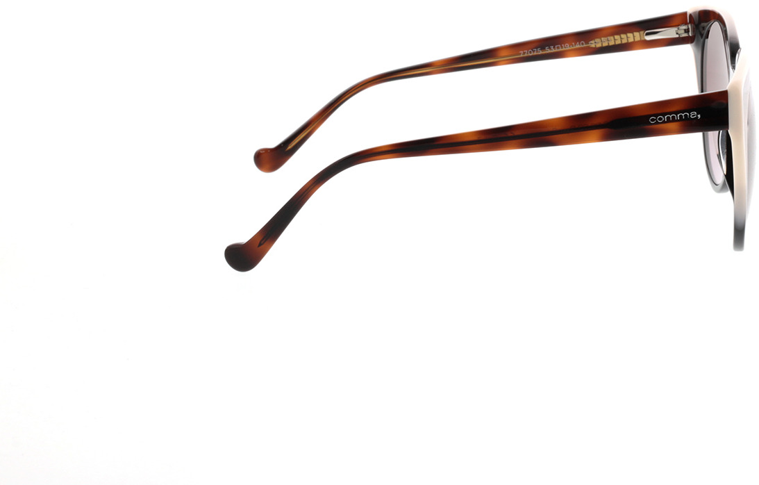 Picture of glasses model Comma, 77075 63 Zwart/transparant havanna 53-19 in angle 90