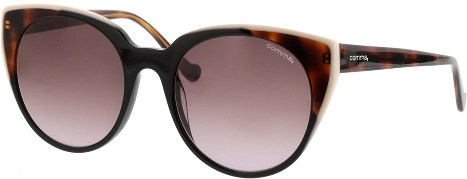 Picture of glasses model Comma, 77075 63 Zwart/transparant havanna 53-19 in angle 330