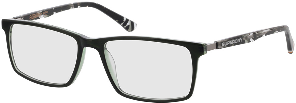 Picture of glasses model Superdry SDO Arno 107 dark green/transparent green patterned 56-17 in angle 330