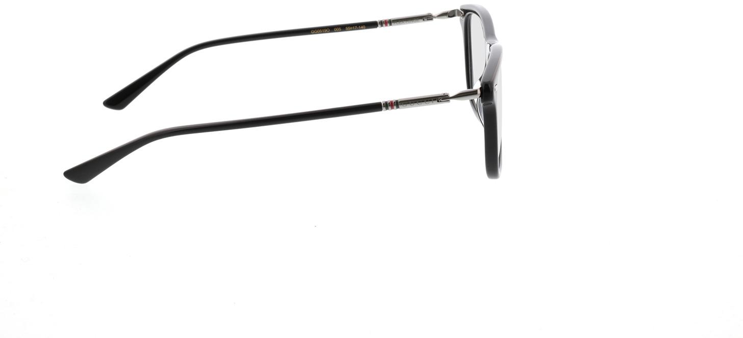 Picture of glasses model Gucci GG0519O-005 55-17 in angle 90
