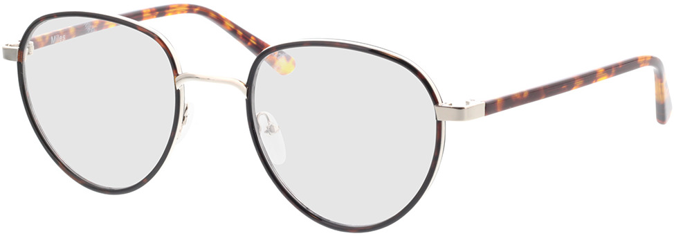 Picture of glasses model Miles-braun-meliert in angle 330