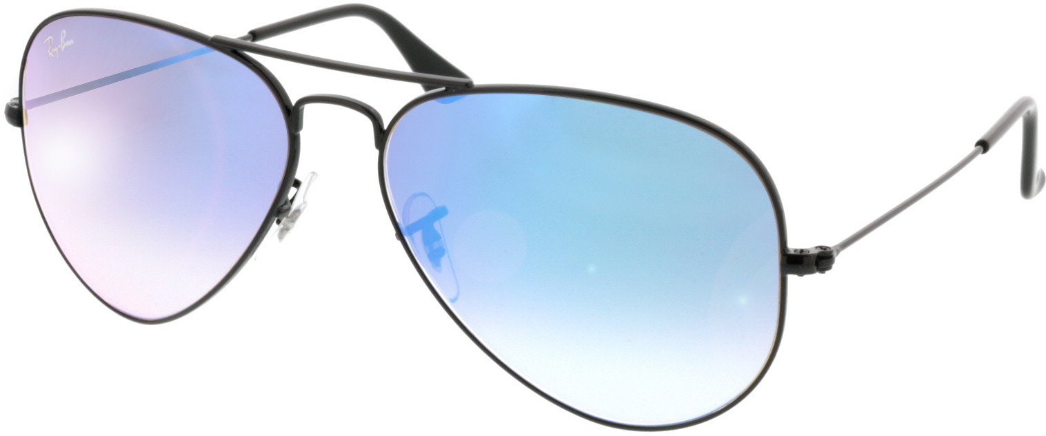 Picture of glasses model Ray-Ban Aviator RB3025 002/4O 58-14 in angle 330
