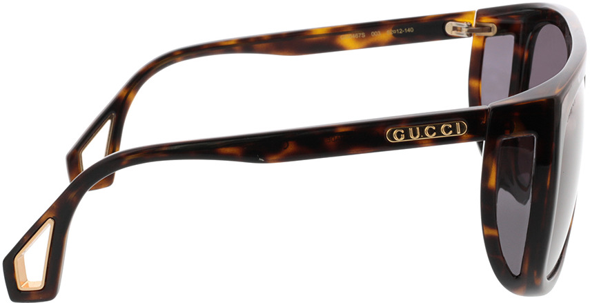 Picture of glasses model Gucci GG0467S-003 62-12 in angle 90