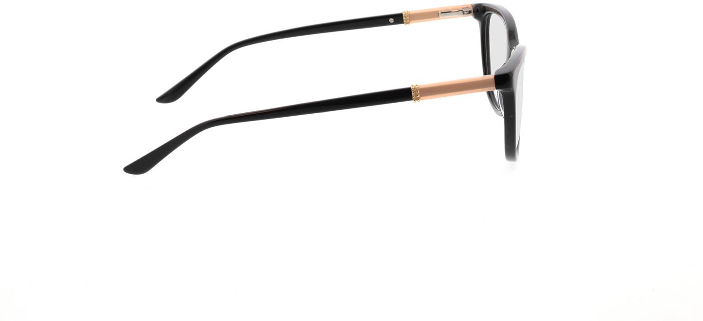 Picture of glasses model Chloe-schwarz in angle 90
