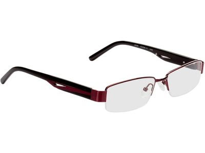 Brille Charleston-burgunderrot/schwarz