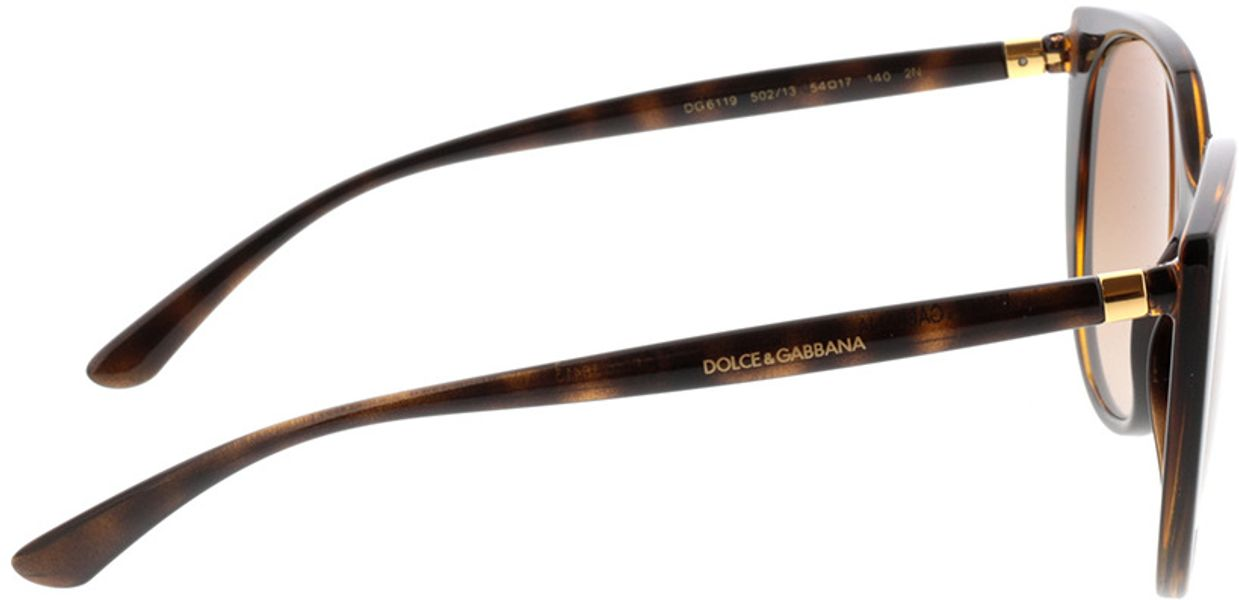 Picture of glasses model Dolce&Gabbana DG6119 502/13 54-17 in angle 90