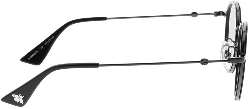 Picture of glasses model Gucci GG0608OK-002 49-21 in angle 90