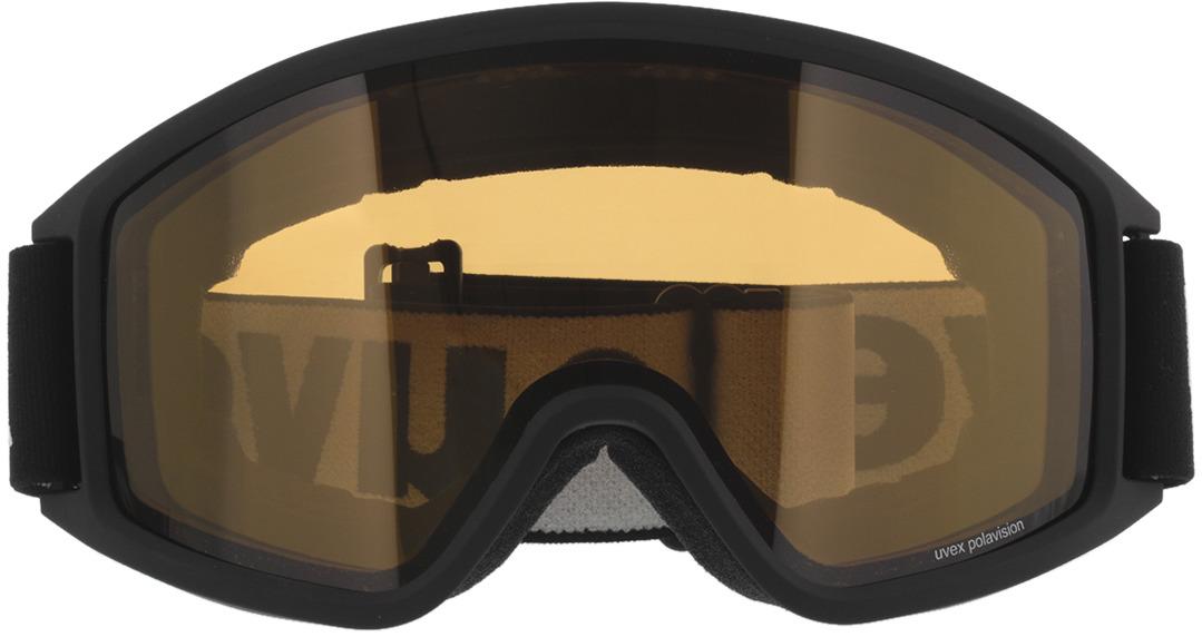 Picture of glasses model Uvex Skibrille g.gl 3000 P Black Matt/Yellow Pola in angle 0