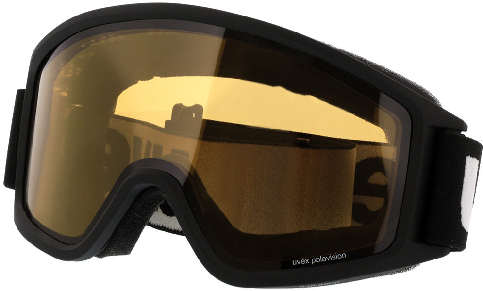 Picture of glasses model Uvex Skibrille g.gl 3000 P Black Matt/Yellow Pola in angle 330