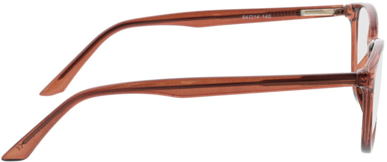 Picture of glasses model Lelia-braun transparent in angle 90