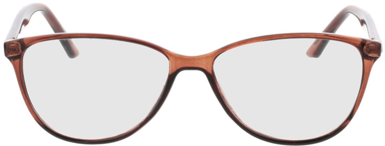 Picture of glasses model Lelia-braun transparent in angle 0