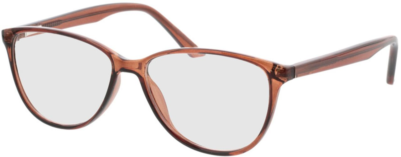 Picture of glasses model Lelia-braun transparent in angle 330