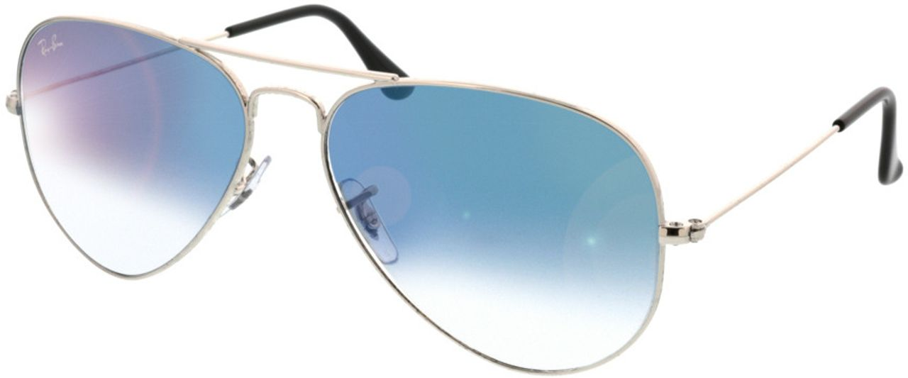 Picture of glasses model Ray-Ban Aviator RB3025 003/3F 58-14 in angle 330