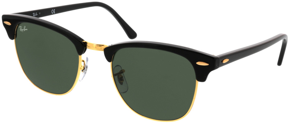 Picture of glasses model Ray-Ban Clubmaster RB3016 W0365 51 21