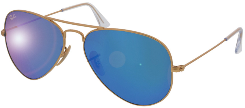 Picture of glasses model Ray-Ban Aviator RB3025 112/17 55-14 in angle 330