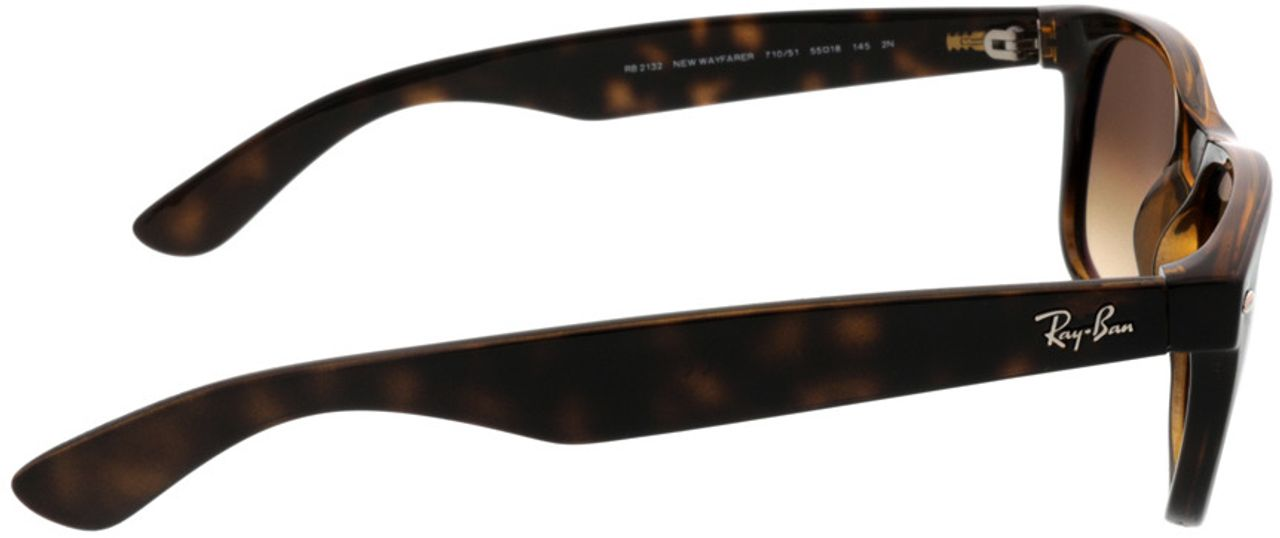 Picture of glasses model Ray-Ban New Wayfarer RB2132 710/51 55-18 in angle 90