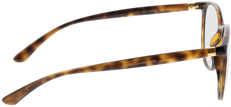 Picture of glasses model Dolce&Gabbana DG5033 502 50-20 in angle 90