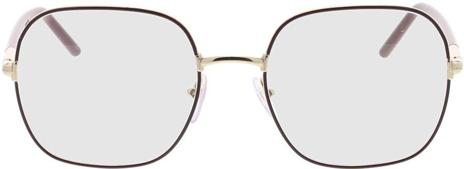 Picture of glasses model Prada PR 56WV 09B1O1 54-19 in angle 0