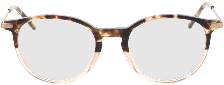 Picture of glasses model Opus-braun-meliert/beige-transparent in angle 0