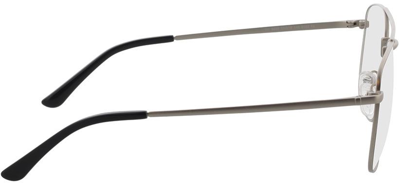 Picture of glasses model Gordon-prateado/preto in angle 90