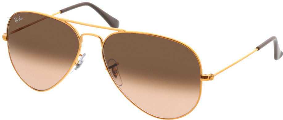 Picture of glasses model Ray-Ban Aviator RB3025 9001A5 58-14 in angle 330