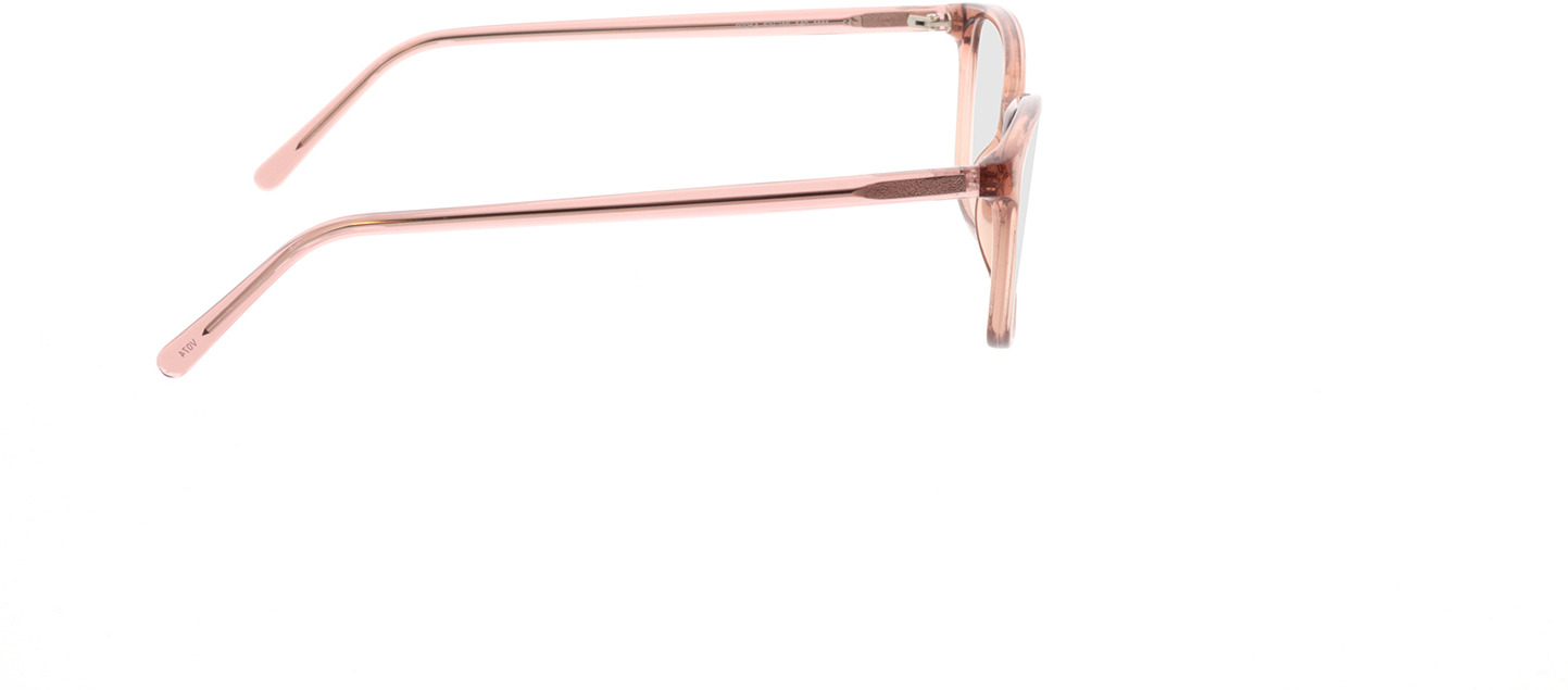 Picture of glasses model Carnia-transparent apricot in angle 90