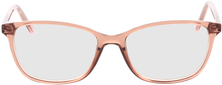 Picture of glasses model Carnia-transparent apricot in angle 0