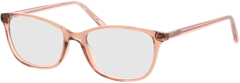 Picture of glasses model Carnia-transparent apricot in angle 330