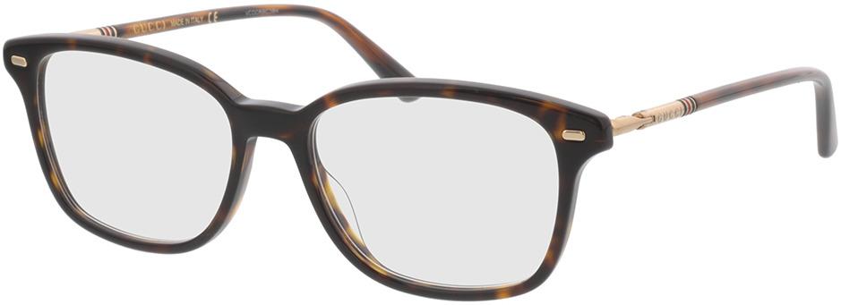 Picture of glasses model Gucci GG0520O-002 53-17 in angle 330