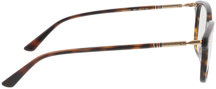 Picture of glasses model Gucci GG0520O-002 53-17 in angle 90