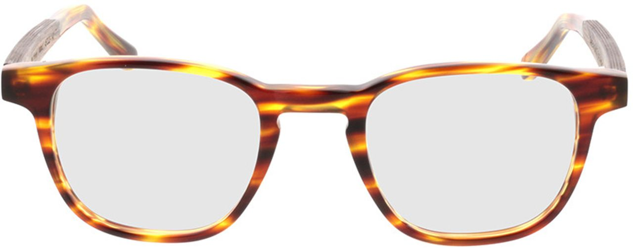 Picture of glasses model TAKE A SHOT Oya Honey RX: Walnussholz 45-22 in angle 0