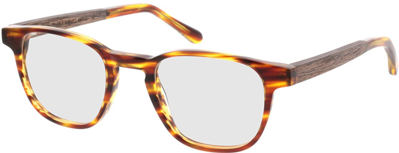 Picture of glasses model TAKE A SHOT Oya Honey RX: Walnussholz 45-22 in angle 330