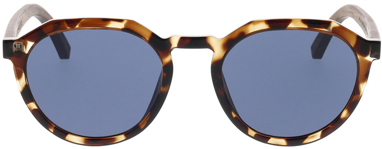 Picture of glasses model TAKE A SHOT Salma: Helles Havana/Walnussholz 49-20 in angle 0