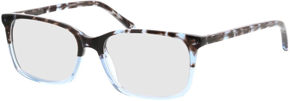 Picture of glasses model Corso-grau-meliert/blau-transparent in angle 330