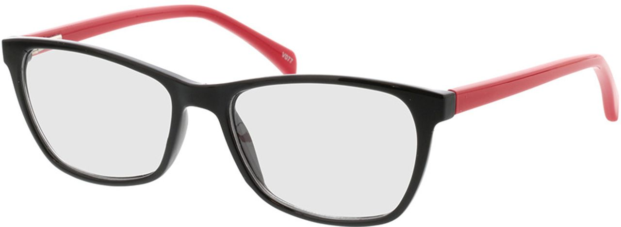 Picture of glasses model Adelina-schwarz/rot in angle 330