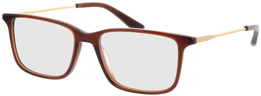 Picture of glasses model Bonum-braun transparent in angle 330