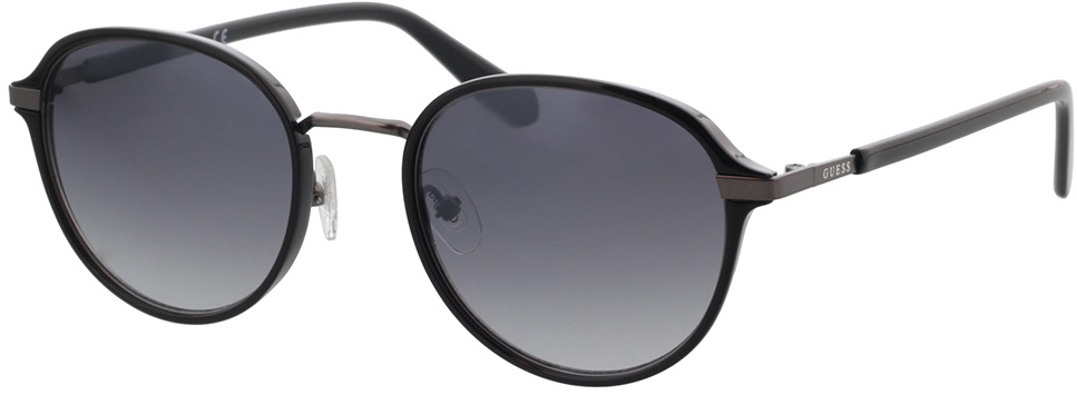 Picture of glasses model Guess GU00031 01B 53 in angle 330