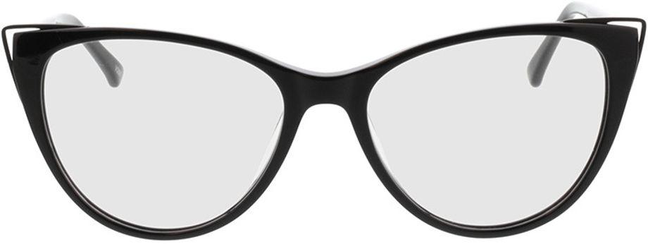 Picture of glasses model Neapoli-matt schwarz in angle 0
