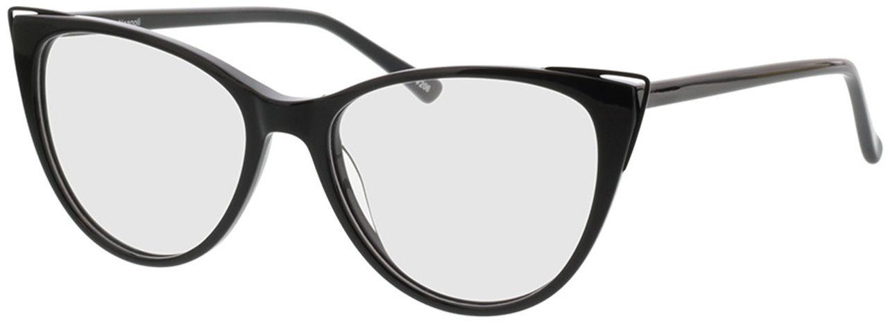 Picture of glasses model Neapoli-matt schwarz in angle 330