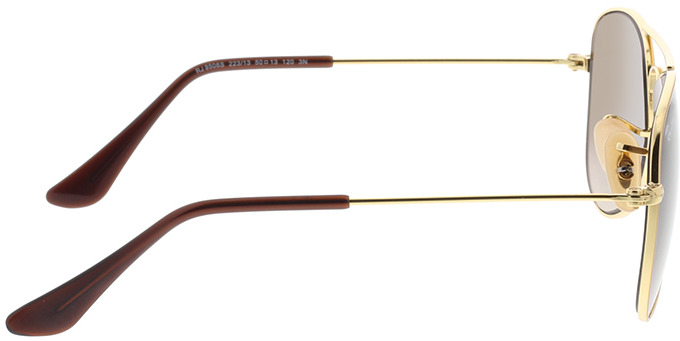 Picture of glasses model Ray-Ban Junior Aviator RJ9506S 223/13 50-13 in angle 90