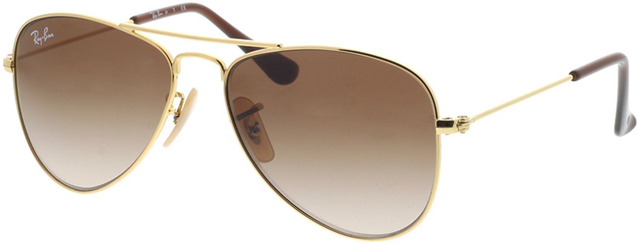Picture of glasses model Ray-Ban Junior Aviator RJ9506S 223/13 50-13 in angle 330