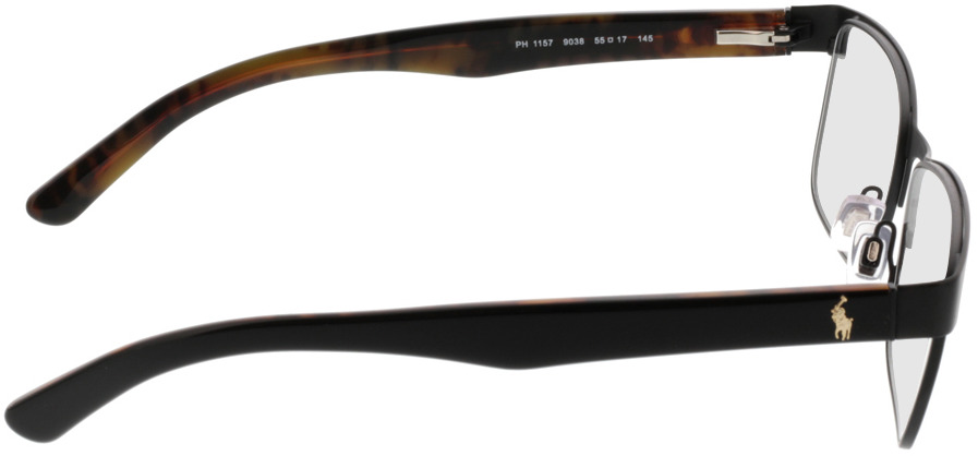 Picture of glasses model Polo Ralph Lauren PH1157 9038 55-17 in angle 90