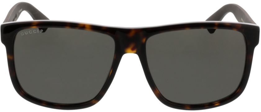 Picture of glasses model Gucci GG0010S-003 58-16 in angle 0