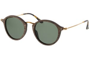 Sunglasses Nymphenburg walnut/gold 45-21