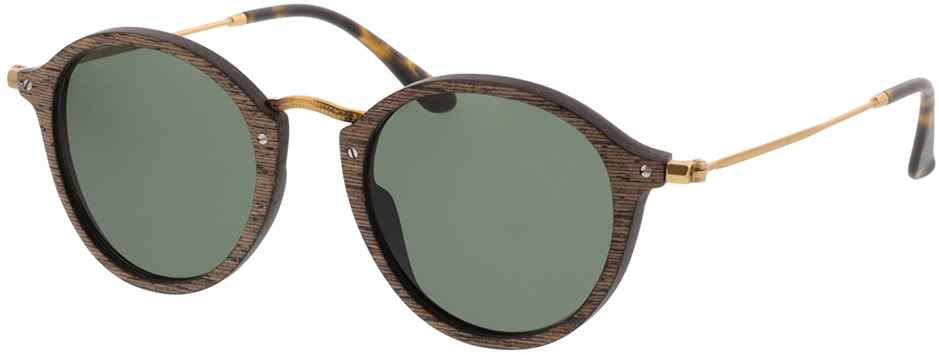 Picture of glasses model Wood Fellas Sunglasses Nymphenburg walnut/Goud 45-21 in angle 330