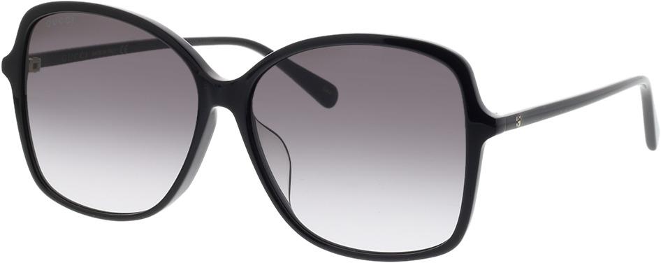 Picture of glasses model Gucci GG0546SK-001 60-14 in angle 330