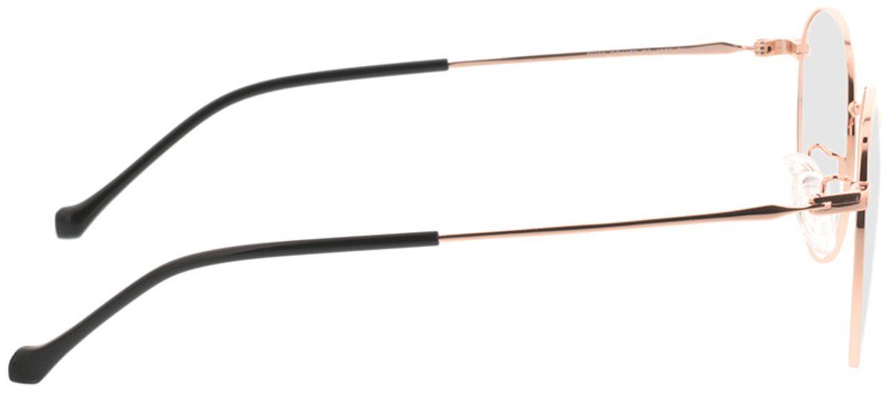 Picture of glasses model Charlottenburg-copper in angle 90